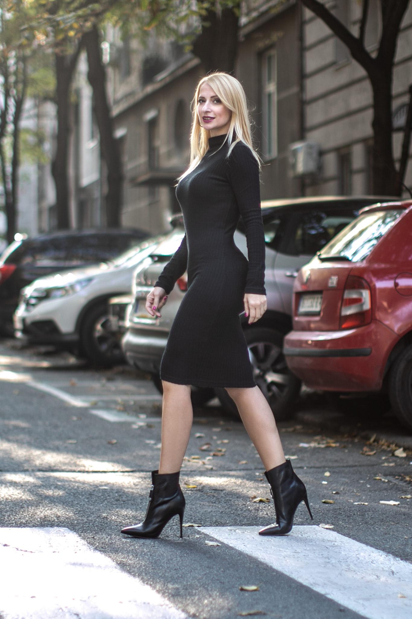 Haljina Rolka Od Trikotaze Ginna Fashion